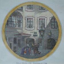 Grillparzer Geburtshaus in Wien, 1861, Österreich