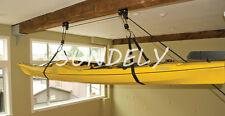 Boat Canoe Kayak Heavy Duty Hoist System Garage Lift Storage Ceiling Stoage -uk