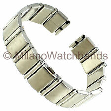 12-14mm Hirsch Bijou Stainless Steel Center Clasp Ladies Watch Band 7212