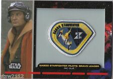 STAR WARS GALACTIC FILES PR-7 EMBROIDERED PATCH NABOO STARFIGHTER BRAVO LEADER