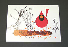 "Charles/Charley Harper Notecards ""Red and Fed"" 4 Pack w/Envelopes"