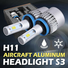 2x Philips 252W 25200LM H11 H8 H9 LED Headlight Kit 6500K White Bulbs High Power