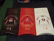 2006 SEALED McDonalds Team Canada Mini Jersey Set of 6 w/Stand FREE SHIP CANADA