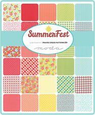 Summerfest April Rosenthal Moda Charm Pack Quilt Fabric  42   5""