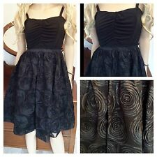 Simply Be Size 16 Black Cornelli Prom Party DRESS Evening £70 Wedding Vintage