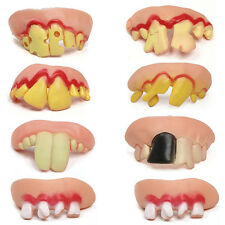 10Pcs  Ugly Fake Teeth Toy Party Funny Gift Costume Party Jokes Fun Pranks