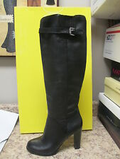 "Circa Joan & David ""Everilde"" Knee High Boots 7.5 M Black Leather New with Box"