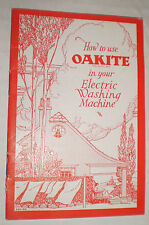 How to Use Oakite in your Electric Washing Machine (1928)