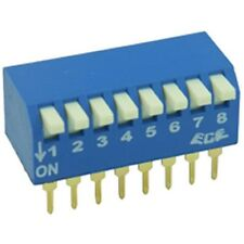 PCB montado tecla de piano Dil / Dip Switch 8 Way