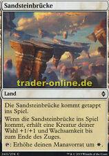 2x Sandsteinbrücke (Sandstone Bridge) Battle for Zendikar Magic