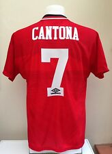 Manchester UNITED FOOTBALL SHIRT JERSEY CANTONA Medium M A CASA 1994 1995 Man Utd