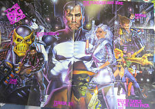 "Marvel's BIG GUNS 1992 Dealer Promo Poster 34 x 50"" Never Used MINT"