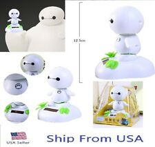 "Big Hero 6 Baymax Figure Solar Powered Dancing Movable Toy 4.9"" Car Decoration"
