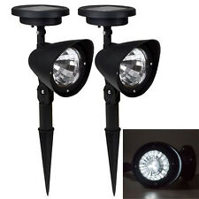 2x4 LED Solar Power Garden Lamp Spot Light Outdoor Lawn Landscape Path Spotlight