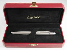 Cartier Diabolo Platinum Plated Chevron Ballpoint Pen NEW