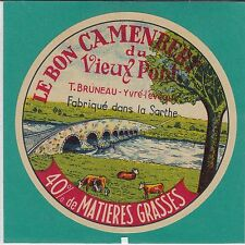 I985 FROMAGE CAMEMBERT T. BRUNEAU YVRE L EVEQUE SARTHE