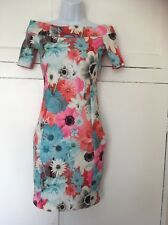 Lovely Quiz Floral Wedding Evening Party Dress Size 8