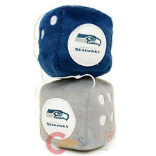 NFL Seattle Seahawks Plush Fuzzy Dice Team Logo Auto Accessories