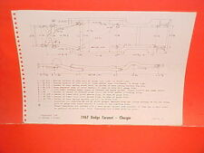 1967 DODGE CHARGER CORONET 440 500 R/T CONVERTIBLE COUPE FRAME DIMENSION CHART