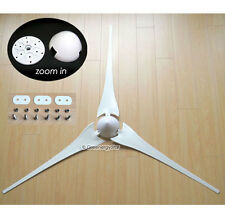 "3 x 62"" Wind Turbine Generator Blades + Hub + Nose Cone 3 socket fit Air-X 403"