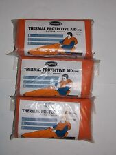 NEW Lot of 3 TPA Emergency Blanket Survival Sleeping Bug Out Bag