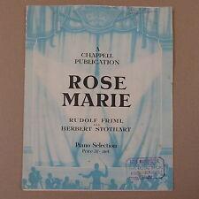 Sélection de piano Rose Marie