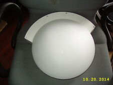 Tico Emergency System Round Frosted Glass Ceiling Fixture or Wall Mount Light