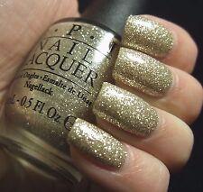 New OPI Mariah *MY FAVORITE ORNAMENT* Champagne Gold Glitter Nail Polish Lacquer