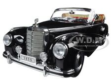 1955 MERCEDES 300S CONVERTIBLE BLACK 1:18 DIECAST MODEL CAR BY WELLY 19859