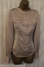 Karen Millen Double Flap Pocket Drape Long Sleeve Shirt Blouse Shirt Top  12 40