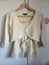 Misch Masch Yellow Top And Cardigan Ensemble Size 10