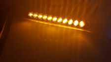 """ONE TecNiq 15"""" Dual Function LED Amber Lights With Amber Lens and Chrome Bezel"""
