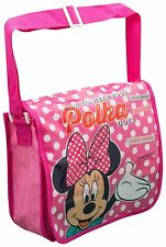GIRLS DISNEY MINNIE MOUSE MESSENGER BAG NURSERY KIDS SCHOOL TRAVEL HOLIDAY BAG