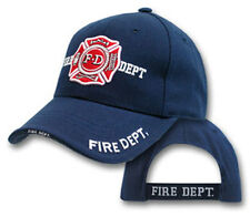Deluxe Fire Dept. White Embroidered Hat