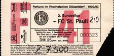 Ticket II. BL 92/93 Fortuna Düsseldorf - FC St. Pauli