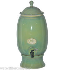 NEW Handmade Southern Cross Ceramic Water Filter Purifier Sage Green