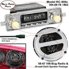 RetroSound RC900c Radio & Dash Speaker B-62 Combo Package 58-67 VW Beetle/Bug