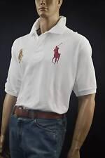 Ralph Lauren White Mesh Polo Shirt Big Royal Blue Pony-4XBig- NWT