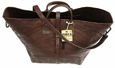 New Ralph Lauren DOUBLE RRL Mexico Made Dark Brown Leather Tooled Large Tote Bag