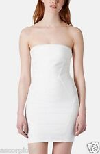 New Topshop Strapless Satin Body-Con Dress Herve Ledger Size US 8P Petite $84.00