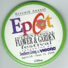Disney Button - Seventh Annual EPCOT International Flower & Garden Show - Circle