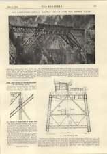 1914 Loetschberg Simplon Railway Bridge Over Bietsch Valley