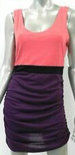 NWT BAR III Multi-Color Purple Pink Black Sleeveless Sheath Dress Size: L