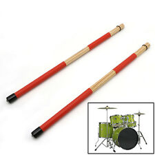 1 Pair Drum Brushes Jazz Drum-Sticks Percussion Red Set Made Of Bamboo 40CM