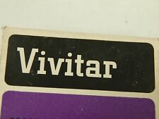 NEW GENUINE ORIGINAL VIVITAR 43mm OPTICAL GLASS  BLUE 80B SCREW in FILTER