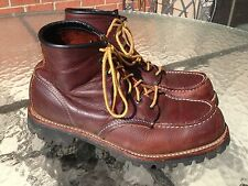 Red Wing 4183 Heritage Roughneck Moc Toe Boots - Size 8 D