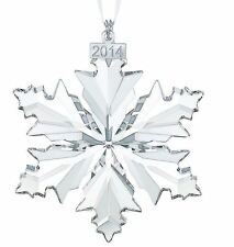 NIB SWAROVSKI LARGE CHRISTMAS ORNAMENT SNOWFLAKE 2014 #5059026