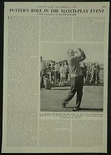 Golf Turnbury Eric C Brown News Of The World Matchplay 1960 1 Page Photo Article