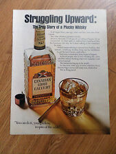 1967 Canadian Lord Calvert Ad Story of Plucky Whisky