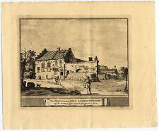 Antique Print-BLOEMENDAAL-ALBRECHTSBERG-NETHERLANDS-Schijnvoet-Roghman-1754